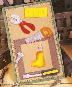 postal para el día del padre con herramientas