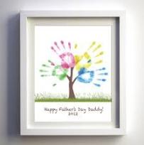 cuadro manos día del padre