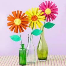 flores en botella