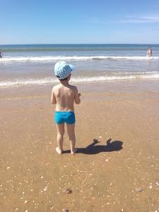 ÁLvaro en la playa