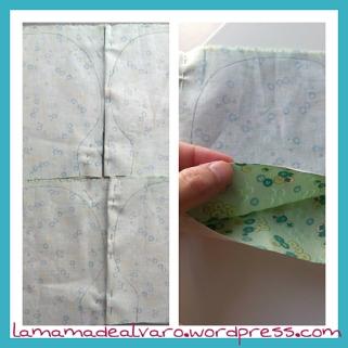 colocación de la tela