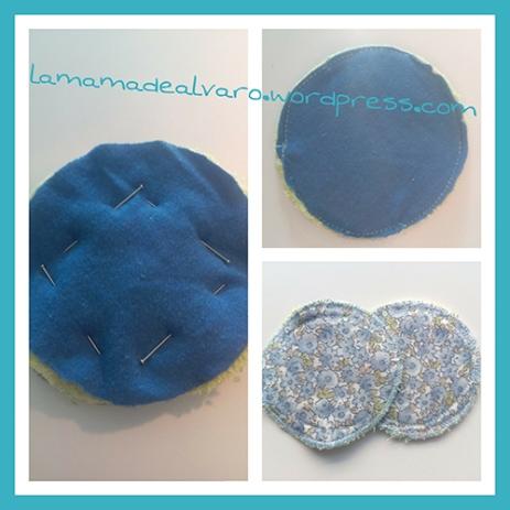 tutorial para hacer discos de lactancia de tela