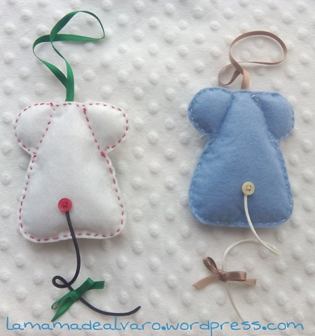 ratoncitos de espalda