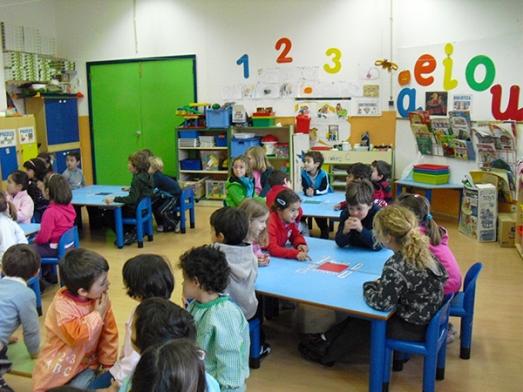 Imagen de niños en la escuela