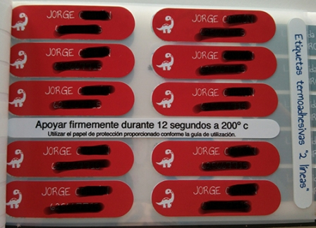 imagen de etiquetas para la ropa Petit Fernand