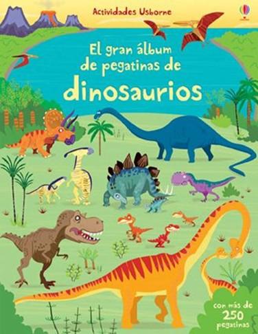 Portada de libro de pegatinas de dinosaurios