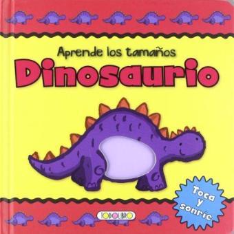 Dinosaurio aprende los tamaños, foto de la portada