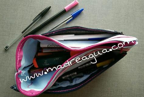 Imagen de estuche para lápices con tres apartados