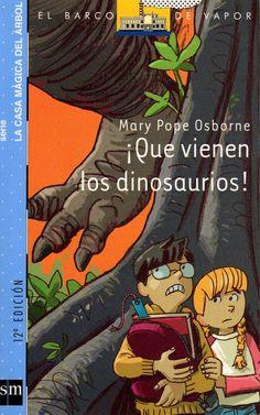 Portada del libro ¡Qué vienen los dinosaurios¡