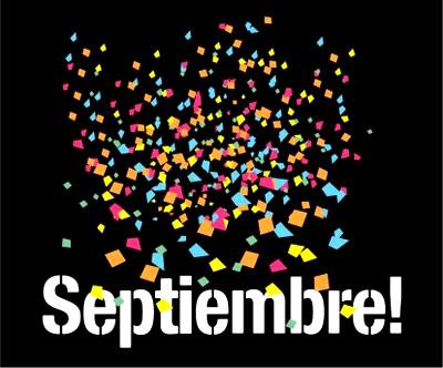Imagen de septiembre con confeti