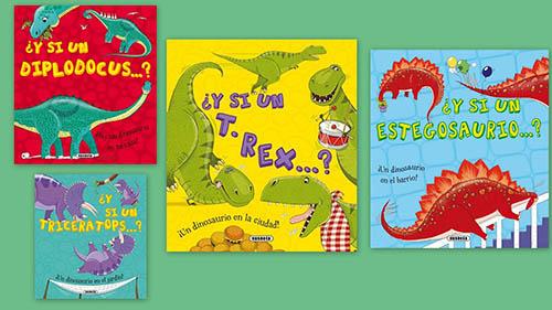 Imagen de libros sobre dinosaurios, editorial susaeta
