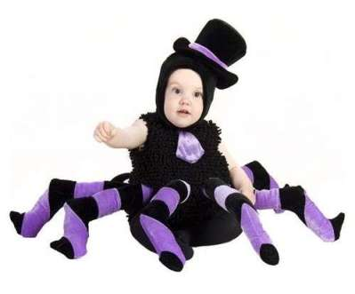 Imagen de niño disfrazado de araña