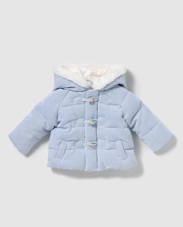Imagen de abrigo celeste de bebé de la marca Dulce