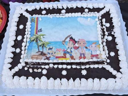 Tarta de galletas de Jake el pirata