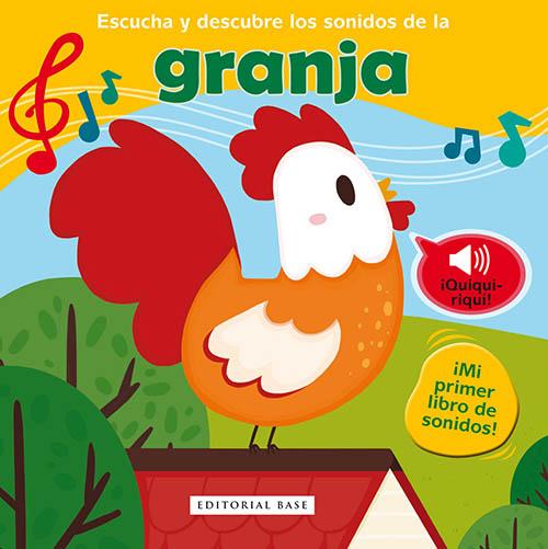 """Portada del libro interactivo """"Escucha y descubre los sonidos de la granja"""""""
